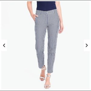 J.Crew Skimmer pant in gingham NWT